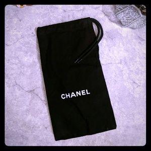 CHANEL black cotton dustbag